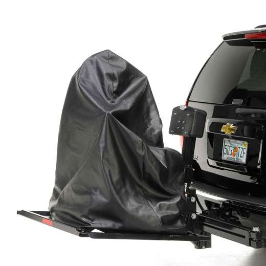 Universal Power Chair Cover Installed