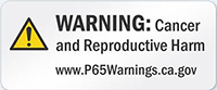 California Prop 65 Warning Notice